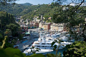 Italian riviera, aerial view of Portofino Italy — Stock Photo