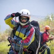 Stock Photo: Paraglider pilot