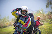 Paraglider pilot — Stock Photo