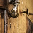 Door handle knocker close up — Stock Photo