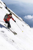 Skidor-freeride — Stockfoto