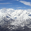 Stock Photo: Panoramic snowy mountains