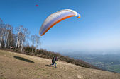 Paraglider take-off — Stock fotografie