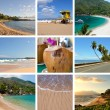 Stock Photo: Ocean and beach collage