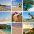 Ocean and beach collage — Stock Photo