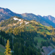 Stock Photo: Summer view of mountains from a hiking trail at hurricane ridge