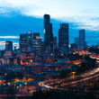 Seattle downtown in the night — Stock Photo