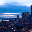 Seattle downtown panorama in the night — Stock Photo