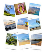 Hawaiian trip memories, collage with nine photos — Stock Photo