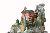 Model of the house with the mill — Stock Photo