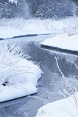 Rivier in de winter. — Stockfoto