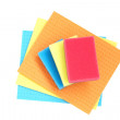 Colorful sponges and cloths for cleaning. — Stock Photo
