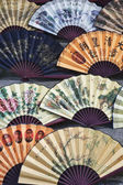 Beautiful handmade paper fans — Stock Photo