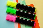 Three colored marker. — Stock Photo