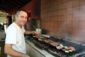 Smiling Barbecue Chef — Stock Photo