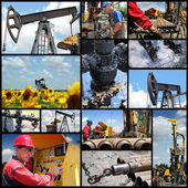 Industria de petróleo y gas - collage — Foto de Stock