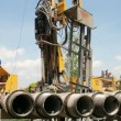 Natural Gas Drilling Well - Stock Photo
