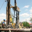 Stock Video: Oil Workers