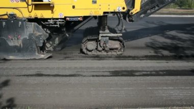 Asphalt Road Milling Machine — Stock Video