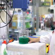 Female Researcher Working With Chemicals — Stock Video