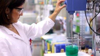 Female Researcher In laboratory - Montage — Stock Video