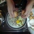 Sunny Side Up Eggs With Bacon — Stock Video