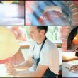Making Pizza - Pizzeria - Collage — Stock Video #22008707