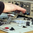 Stock Video: Vision Mixer Operator