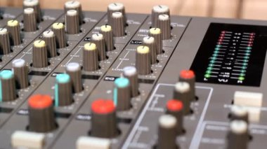 A close up of an audio mixer. HD1080p .
