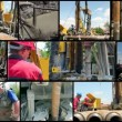 Drilling Rig Workers at Work — Stock Video