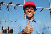 Electrical Utility Worker — Stock Photo