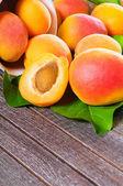 新鲜多汁杏 — 图库照片