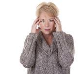 Woman with headache — Stock Photo