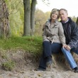 Mature couple outdoors - Stock Photo