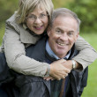 Mature couple outdoors — Stock Photo #13383759
