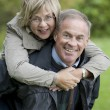 Stock Photo: Mature couple outdoors