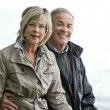 Mature couple outdoors — Stock Photo