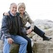 Mature couple outdoors — Stock Photo #13435724