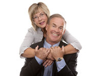 Formal mature couple — Stock Photo