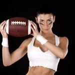 American football girl — Stock Photo #15709301