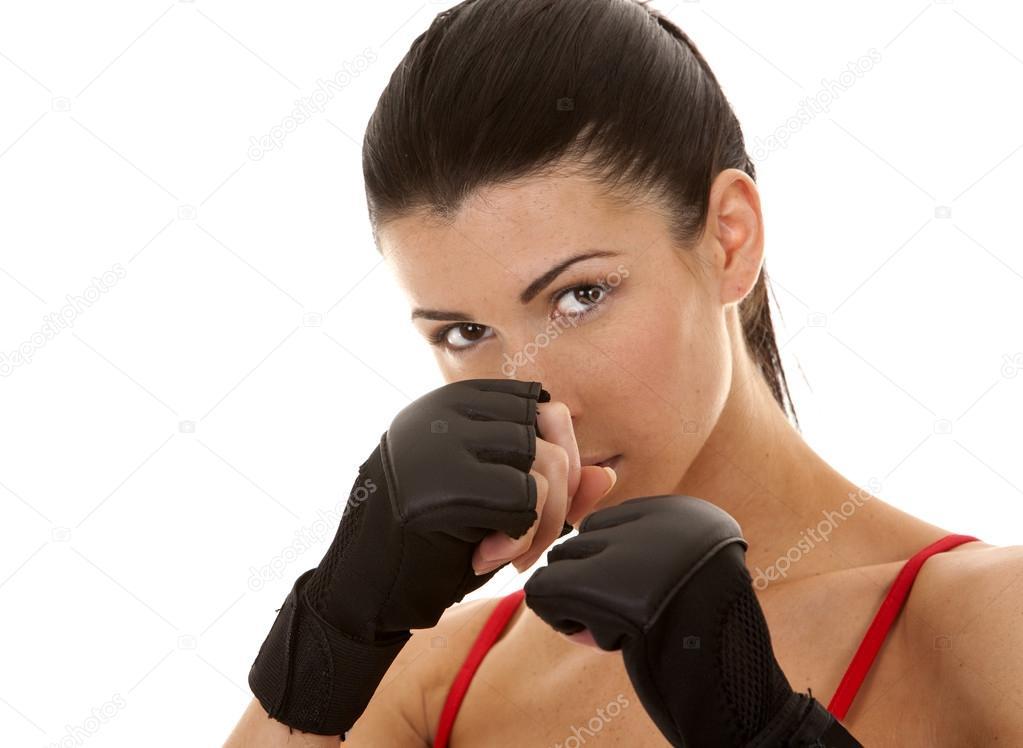 Фото брюнеток в боксерских перчатках 15 фотография