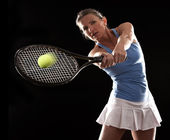 Tennis woman — Stock Photo