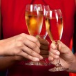 Women holding champagne glasses — Stock Photo #29966931
