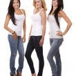 Three casual women — Stock Photo