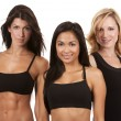 Three fitness women — Stock Photo