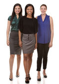 Three business women — Stock Photo