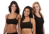 Tři fitness ženy — Stock fotografie