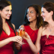 Women holding champagne glasses — Stock Photo #31113985