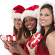 Group of christmas women — Stock Photo #31272781