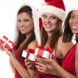 Group of christmas women — Stok Fotoğraf #31273033